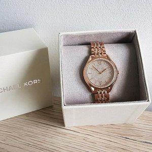 Michael Kors MK7085 Mindy Rose Gold Glitz Watch